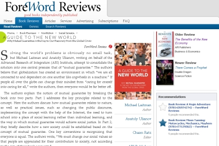ForeWord Reviews: A Guide To The New World