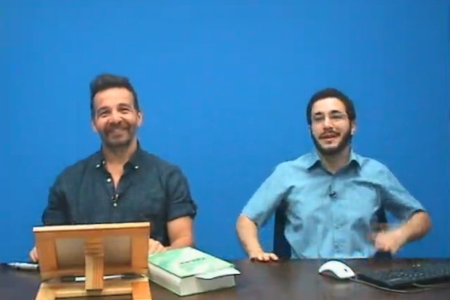 Shot from the Live Video Broadcast of the First Lesson of the Fall 2014 Kabbalah Fundamentals Course