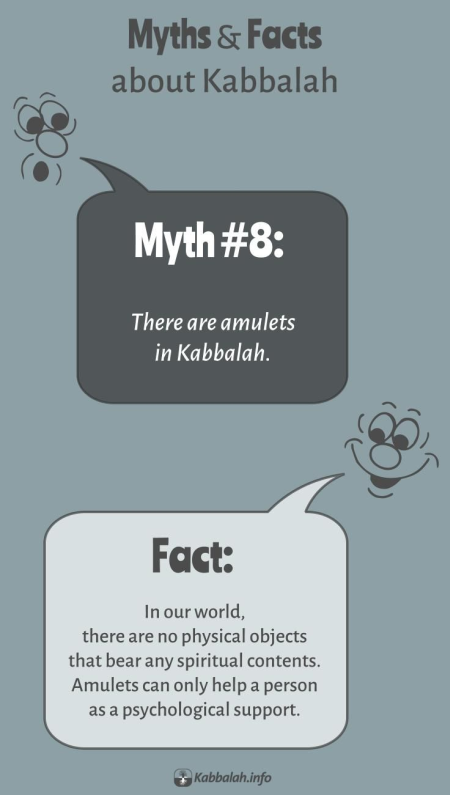 MYTH: There's Amulets in Kabbalah. FACT: There's No Amulets in Kabbalah [Kabbalah Myths and Facts #8]