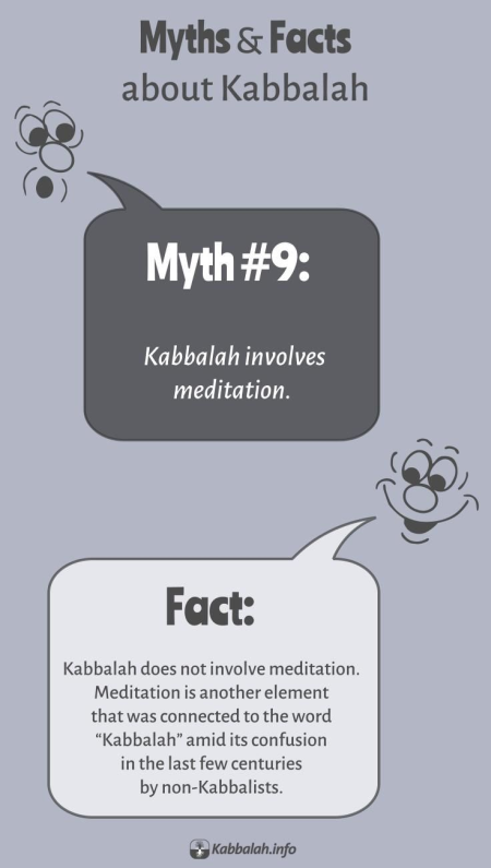 MYTH: Kabbalah Involves Meditation. FACT: Kabbalah Doesn't Involve Meditation [Kabbalah Myths and Facts #9]