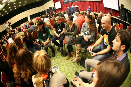 A Workshop Circle at a Convention